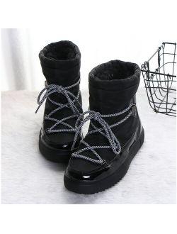UKAP Mid-Calf Waterproof Snow Boots for Women Winter Warm Faux Fur Lining Snow Shoes