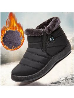 Rotosw Women Snow Ankle Boots Winter Warm Waterproof Shoes