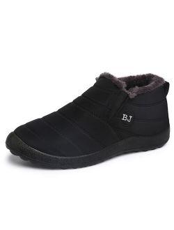 UKAP Mens Womens Abkle Boots Winter Warm Snow Boots Waterproof Furr Lined Shoes