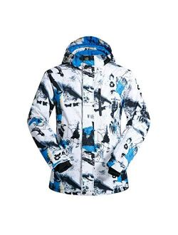 OLEK Men's Waterproof Ski Snowboarding Jacket Pants Windproof Snow Snowboard Coat