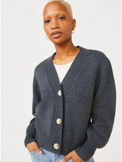 Women's Puff Sleeve Cardigan