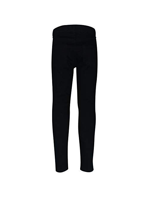 Kids Boys Stretchy Jeans Jet Black Ripped Denim Skinny Bikers Pants Slim Trouser