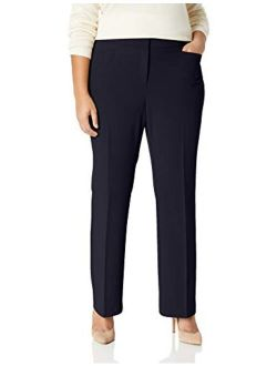 And - Lark & Ro Women's Plus Size Bootcut Trouser Pant: Curvy Fit