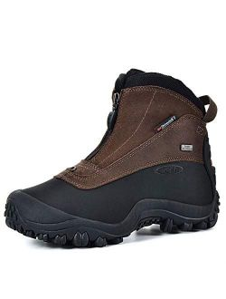 XPETI Men's SnowRider Mid Waterproof Ankle Boot Non Slip Snow Hiking Boots