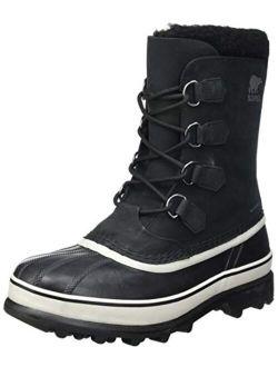 - Men's Caribou Waterproof Snow Boot For Winter, Black, Dark Stone