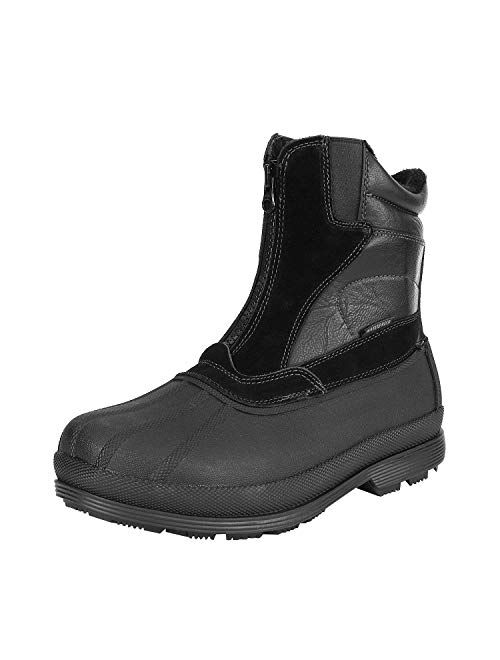 NORTIV 8 Men's Insulated Waterproof Winter Snow Boots Warm Outdoor Boots for Cold Weather