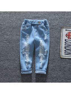 Patpat Baby / Toddler Fashion Ripped Jeans