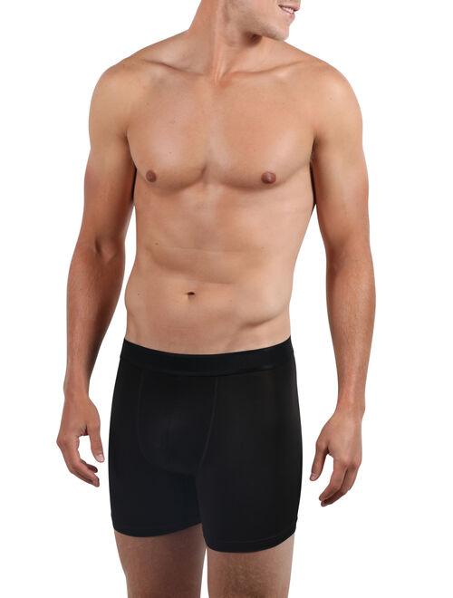 Athletic Works Mens Mesh Boxer Briefs, 3-pack