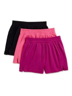 Girls Mesh Active Soccer Shorts, 3-pack, Sizes 4-18 & Plus