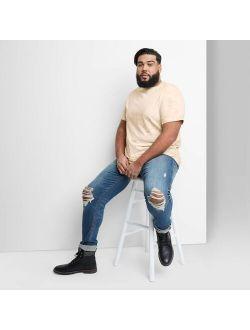 E Regular Fit Short Sleeve Crewneck T-shirt - Original Use™ Brown