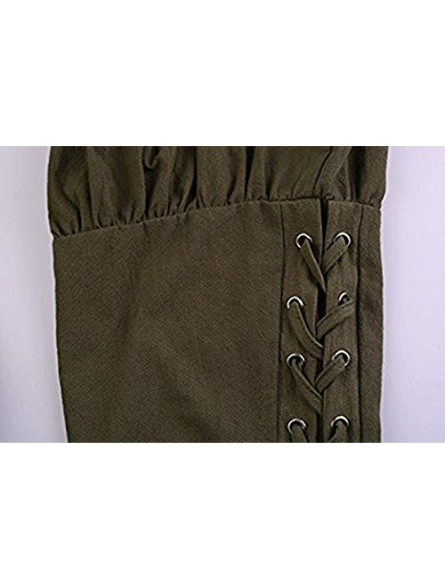 Meilidress Men's Ankle Banded Pants Medieval Viking Navigator Trousers Renaissance Pants