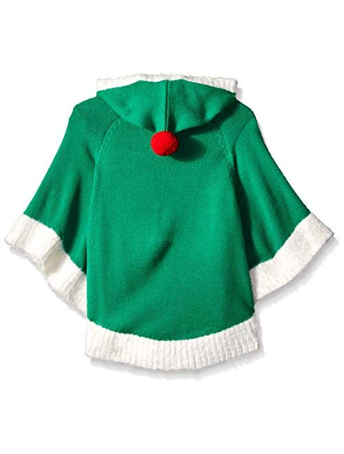 Blizzard Bay Girls Ugly Chrismas Sweater Poncho
