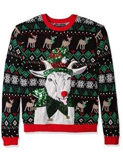Men's Ugly Christmas Sweater Goats