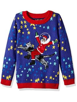 Boys Ugly Christmas Sweater Cat