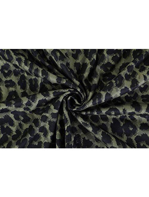 Meilidress Womens V Neck Racerback Tank Tops Spaghetti Strap Leopard Print Sleeveless Vest Shirt