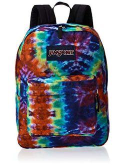 Superbreak Backpack - Lightweight School Pack, Red Hippie Days