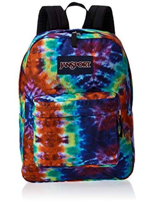JanSport SuperBreak Backpack - Lightweight School Pack, Red Hippie Days