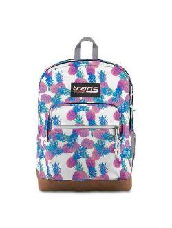 """Jansport 17"""" Super Cool Pastel Pineapples White Backpack - New (tt)"""