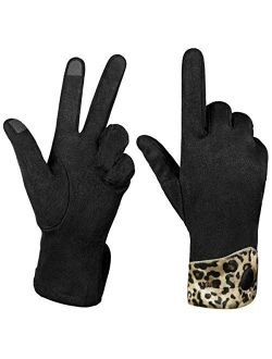 Women Winter Touchscreen Gloves Soft Comfortable Thermal Elastic Stretch Texting Glove For Traveling, Running,shopping