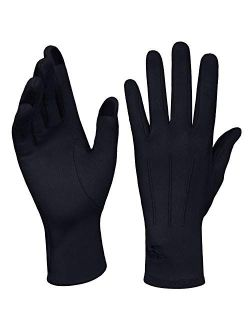 Women Winter Touchscreen Gloves Soft Comfortable Thermal Elastic Stretch Texting Glove For Traveling, Cycling, Running