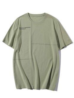 Men Slogan Graphic Short Sleeve Tee