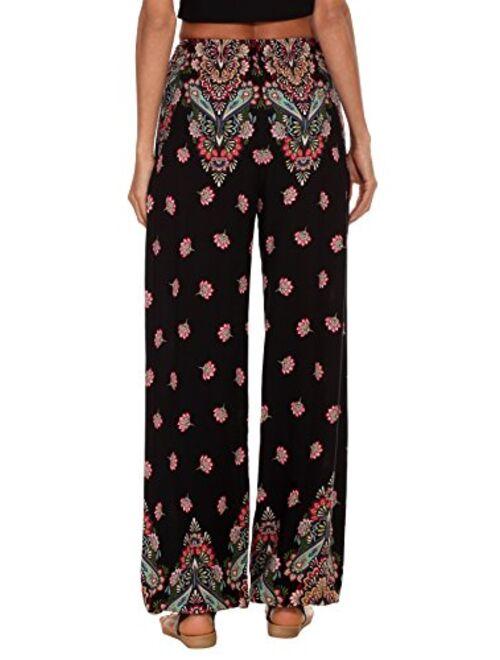Urban CoCo Women's Floral Print Boho Yoga Pants Harem Pants Jogger Pants