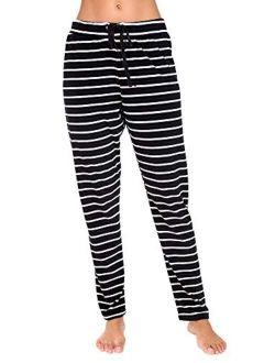 Women's Stripe Velvet Drawstring Lounge Pants
