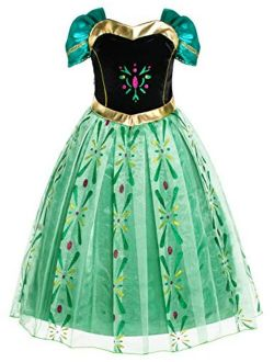Party Chili Princess Costumes Birthday Dress Up for Little Girls Age 2-11 Years