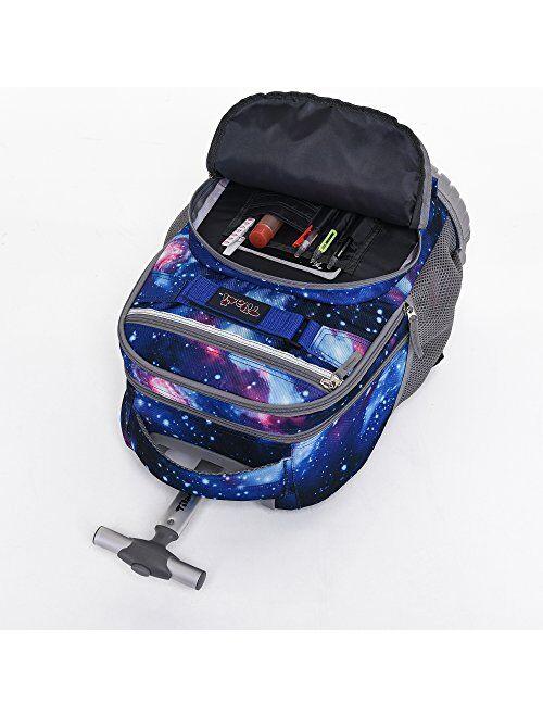 Tilami Rolling Backpack 18 inch Boys and Girls Laptop Weel Backpack