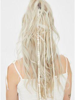 Faux Pearl Tassel Decor Hair Clip