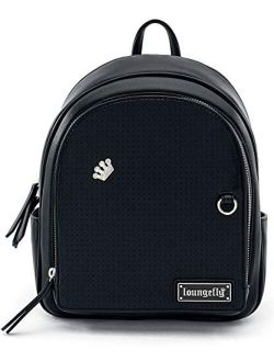 Black Pin Trader Faux-leather Mini Backpack