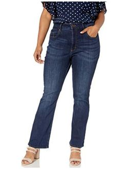 Riders by Lee Indigo Women's Plus Size Heritage High Rise Skinny Flare Jean