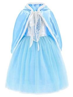 Princess Costumes Fancy Party Birthday, Christmas Dress for Little Girls with Accessories 2-11 Years