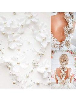 Dalina Bride Wedding Hair Vine Accessory Flower Hair Piece Bridal Headpiece For Bride(120cm / 47 inches) - Set Of 2 Vines.