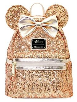 X Lasr Exclusive Disney Yellow Gold Sequin Minnie Mini Backpack