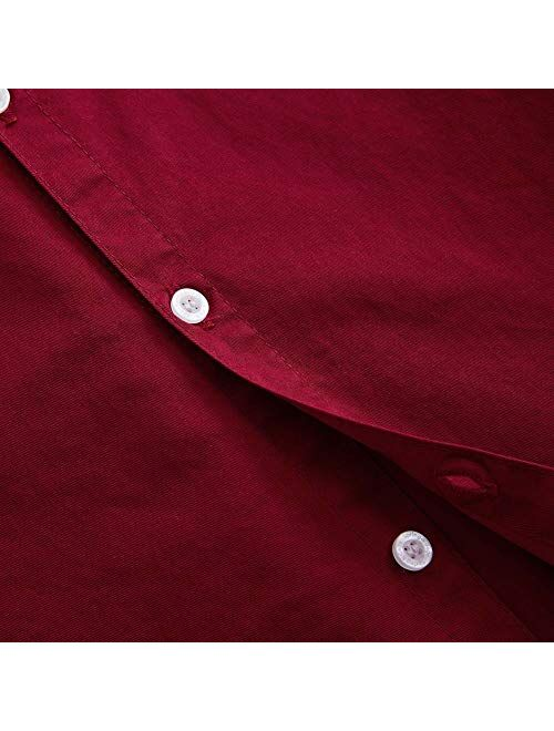 Spring/&Gege Boys Long Sleeve Uniform Oxford Shirt Cotton Solid