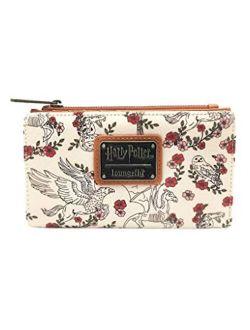X Harry Potter Hedwig Floral Flap Wallet