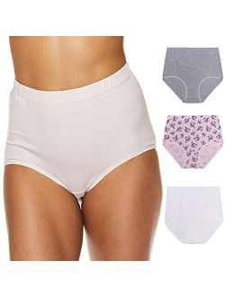 Womens High Waisted Underwear Tagless Full Coverage Cotton Brief Panties For Women