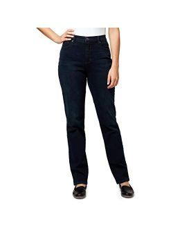 "Ladies' Amanda Stretch Denim Tapered Leg Jean Sizes 6-18 Tall 34"" Inch Inseam"