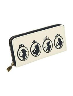 X Disney Princess Silhouette Quilted Zip-around Wallet