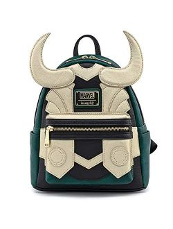 Marvel Avengers Loki Cosplay Faux Leather Womens Double Strap Shoulder Bag Purse