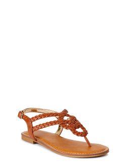 Criss-cross Braided Sandals (little Girls & Big Girls)