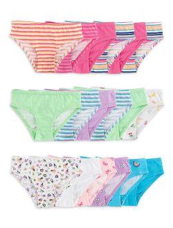 Toddler Girls Underwear, 18-pack Hipster