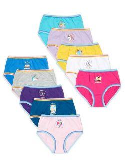 Girls Brief Underwear 10-pack, Sizes 4-16