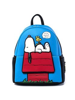 Peanuts Snoopy Doghouse Faux Leather Womens Mini Backpack Purse