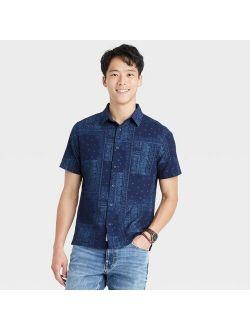 Fit Textured Short Sleeve Button-down Shirt - Goodfellow & Co™