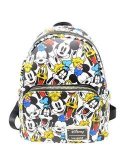 Disney The Fab 5 Mickey Minnie Allover Print Double Strap Shoulder Bag Purse