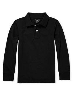 Boys' Uniform Long Sleeve Pique Polo