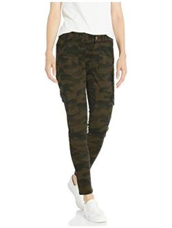 - Daily Ritual Women's Stretch Twill High-rise Skinny Cargo Pant