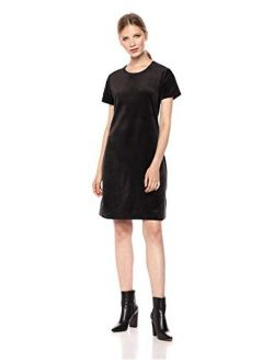 - Daily Ritual Women's Velour Short-sleeve Lounge Dress